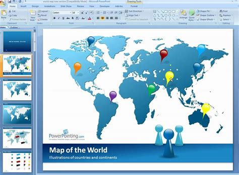 Download Game World Template by World Map In Powerpoint Template How To Customize World