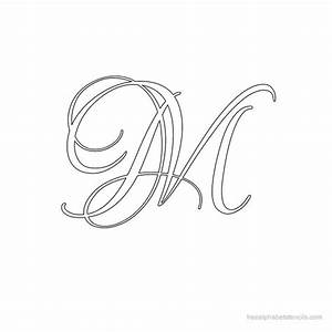 Fancy letter m calligraphy, free printable tattoo outlines ...
