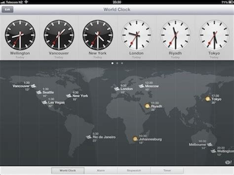 sport news ios ipad clock app