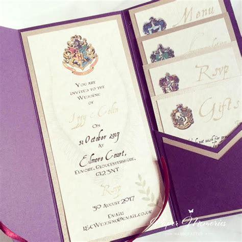 harry potter invitation paper memories