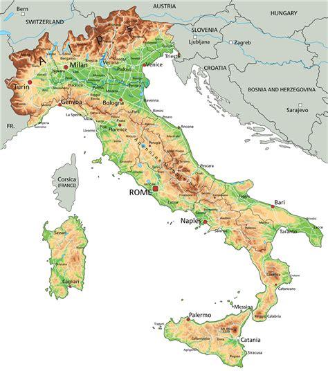 Carte Sud De Et Italie by Carte De L Italie Cartes Sur Le Relief Villes Nord