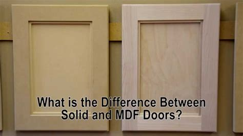 difference  solid wood  mdf cabinet