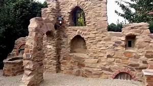 gartenmauer mit dem charme einer ruine teil 2 youtube With französischer balkon mit pizzaofen grill garten