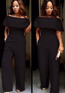 Off Shoulder Black Jumpsuit - Breeze Clothing