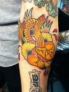 Arm New School Heart Tattoo by Lone Wolf Tattoo
