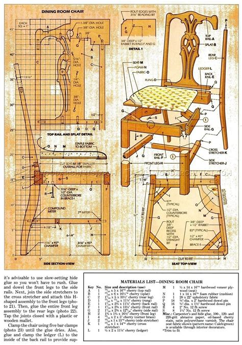 Dining Room Chair Plans • WoodArchivist