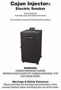 Cajun Injector Electric Smoker Owner U0026 39 S Manual Pdf Download