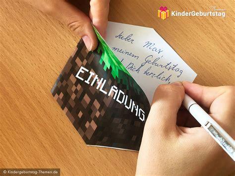 Minecraft blöcke minecraft spiele minecraft bilder minecraft ideen pokemon basteln schultüte. Minecraft Einladungskarten: Vorlage zum Ausdrucken