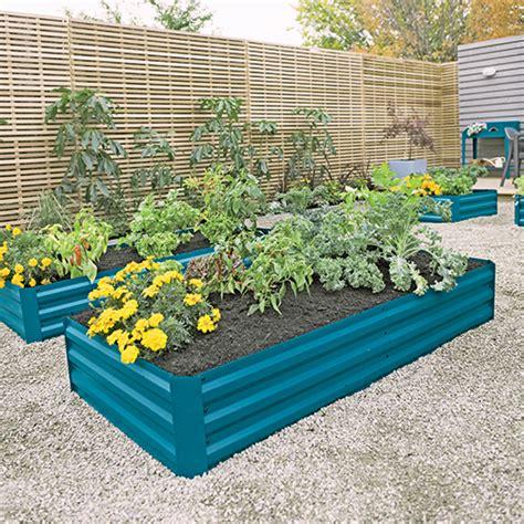metal garden beds demeter corrugated metal raised bed 34 quot x 68