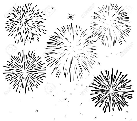 firework clipart black and white monochrome clipart firework pencil and in color