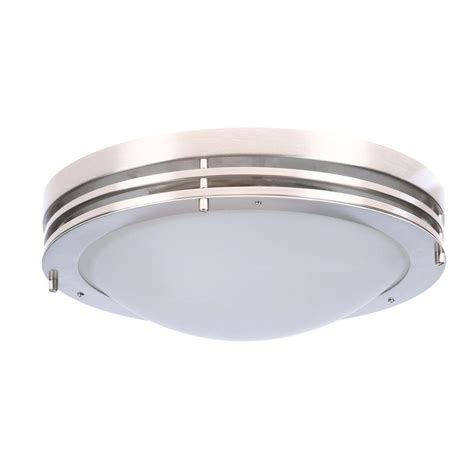 design house 2 light satin nickel ceiling light with