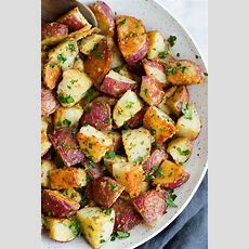 Roasted Potatoes With Parmesan Garlic And Herbs Cooking
