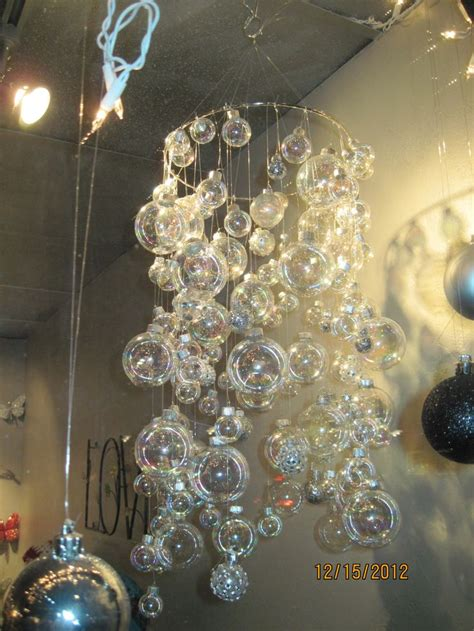 bubble chandelier  gold ring clear christmas bulbs