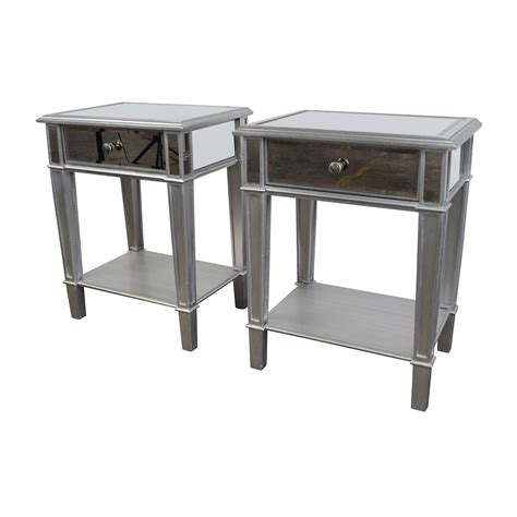mirrored end tables nightstands 35 off pier 1 pier 1 hayward mirrored nightstands tables