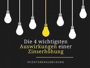 Auswirkungen Einer Deflation : die 4 wichtigsten auswirkungen einer zinserh hung ~ Lizthompson.info Haus und Dekorationen