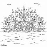 Sunset Mandala Coloring Pages Therapy Clipart Adult Sheets Solar Sun Colorfy Drawing Adults Transparent Pattern Printable Colortherapyapp Beach Animal Instagram sketch template