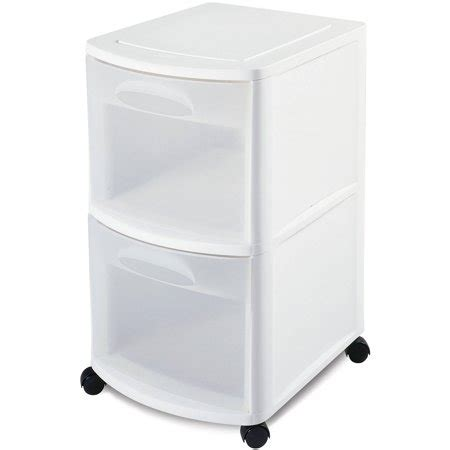 sterilite 5 drawer cart sterilite 2 drawer cart white walmart