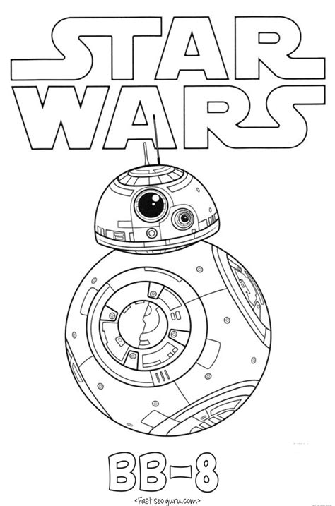 star wars  force awakens bb  coloring pages  printable coloring pages  kidsfree