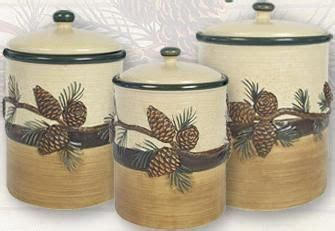 Pine Cone Lodge Kitchen Canister Set  Cozy Kitchen Gifts