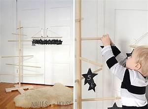 Adventskalender Holz Baum : tannenbaum aus rundst ben im skandinavischen stil ~ Watch28wear.com Haus und Dekorationen