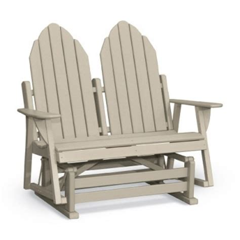 48 quot deluxe adirondack glider body contoured seats curved