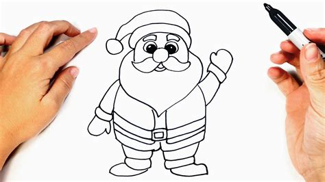 best drawi g of santa clause with chrisamas tree how to draw santa claus santa claus easy draw tutorial