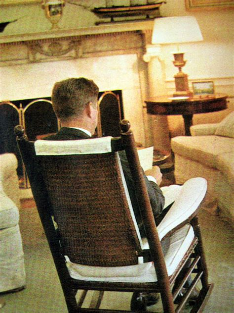 Jfk Rocking Chair History by Jacqueline Kennedy Original Painting Raleigh Degeer Amyx