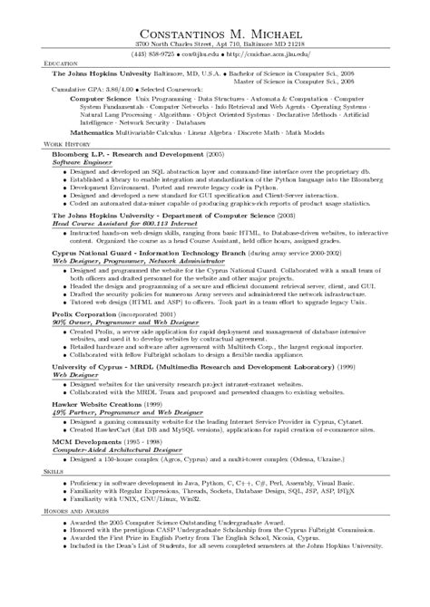 latex resume tamplete computer science printable receipt