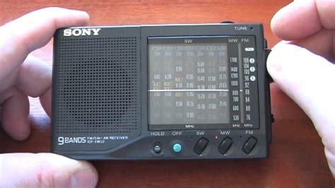 sony icf sw amfmsw portable radio receiver youtube