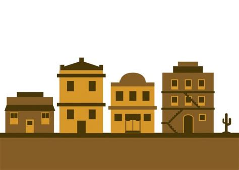 Edificios del viejo oeste Descargar Vectores gratis