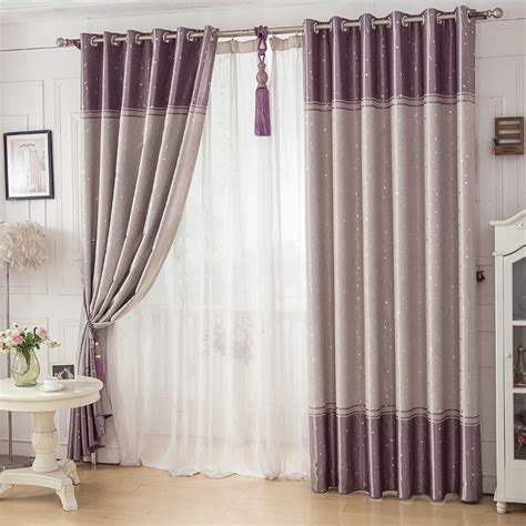 cheap color block star modern funky blackout bedroom curtains