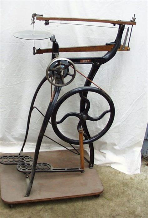 beautiful foot powered scroll  antique tools