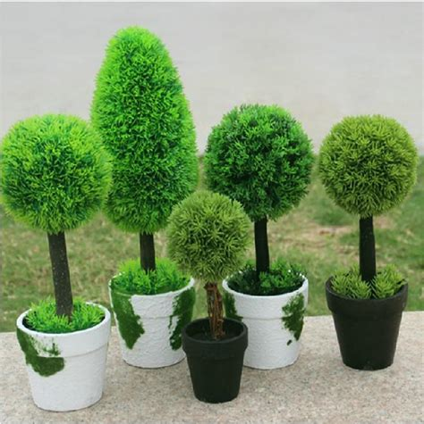 Garden Decoration Artificial Plants by 5 Styles Idyllic Decorative Potted Plants Artificial