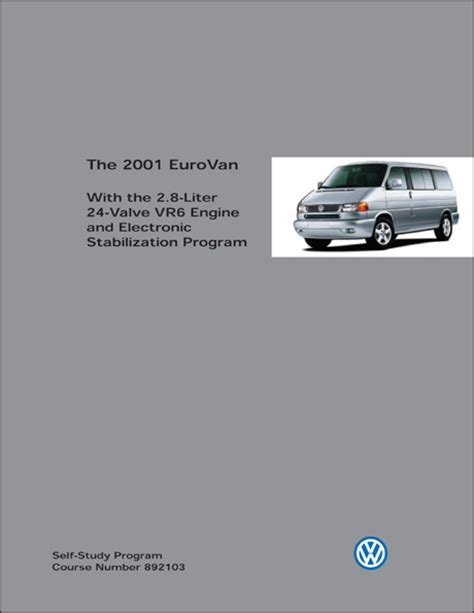automotive repair manual 1994 volkswagen eurovan electronic valve timing front cover volkswagen technical service training volkswagen 2001 eurovan with the 2 8 liter