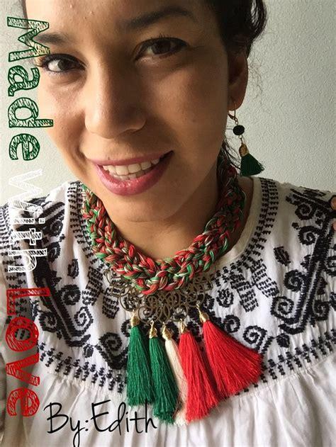 collar de trenza para fiestas patrias 16 septiembre pulseras mis creaciones