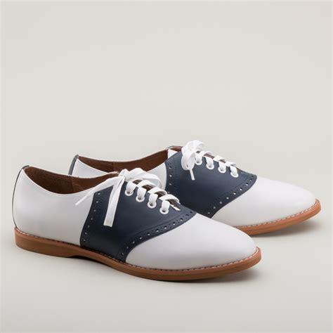 susie classic saddle shoes  bluewhite  royal vintage