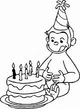 Curious Coloring George Pages Fine Motor Birthday Happy Stimulate Skills sketch template