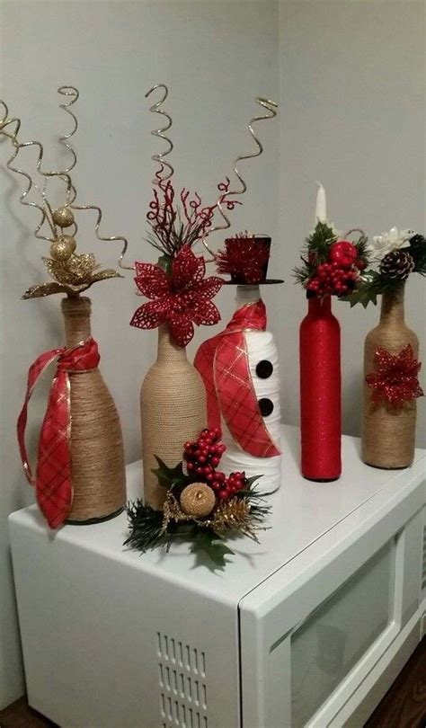 decoracion navidena  botellas de vidrio dale detalles