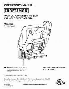 Craftsman 315115690 User Manual Jig Saw Manuals And Guides