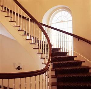 Maroon Curved Stairs — Railing Stairs And Kitchen Design