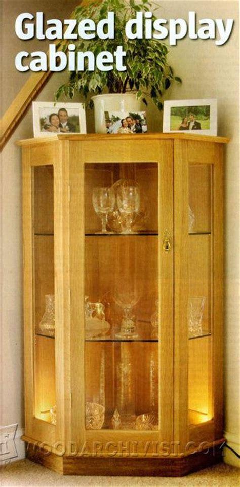 glazed display cabinet plans woodarchivist