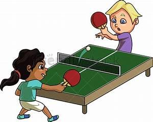 Kids Playing Table Tennis Cartoon Clipart Vector - FriendlyStock  Table Tennis Sports