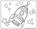 Rocket Coloring Pages Ship Space Printable Outer Print Whitesbelfast Getcolorings sketch template