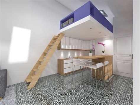 chambre en mezzanine transformer atelier de bricolage en studio indépendant