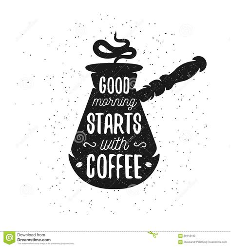 hand drawn typography coffee poster stock vector image 59143193