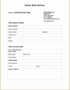 doctor referral form templates printable medical forms With doctor referral form template