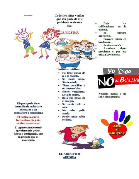 Calaméo El Bullying Triptico