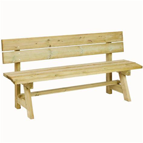 banc de cuisine en bois banc extérieur en bois brut autoclave