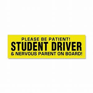 student driver and parent car magnet 10 x 3 by polganidesign With kitchen colors with white cabinets with student driver sticker