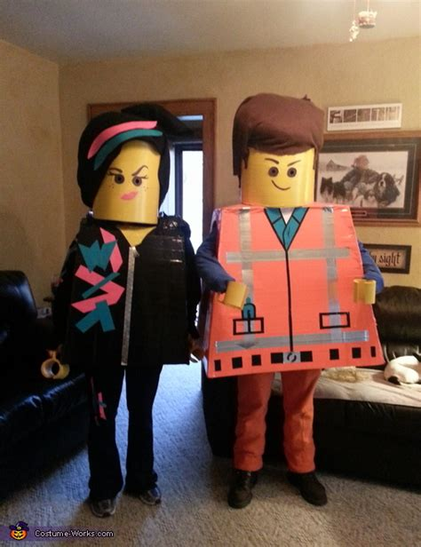 Lego Movie Emmet And Wyldstyle Costumes